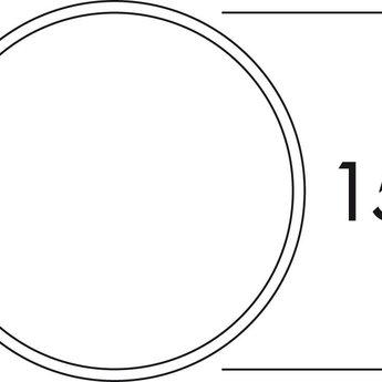 Buitenrooster dampkap Ø 150mm Luchtafvoer Licht grijs