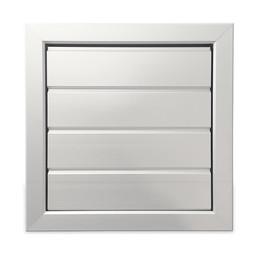 Uitblaasrooster met lamellen, aluminium, 255 x 255 mm