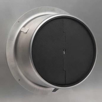 Gevelrooster dampkap Ø 125mm met terugslagklep Alfa