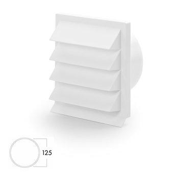 Gevelrooster dampkap Ø 125mm Luchtafvoer Wit