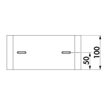 Afzuigkap Buisverbinding Compair Steel flow - SF-RVB 150mm