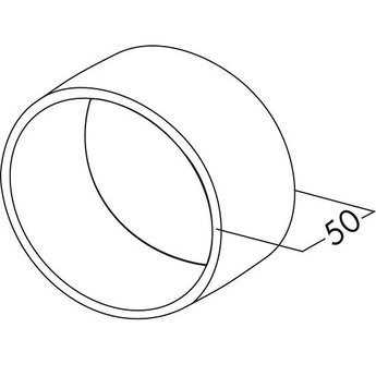 Naber Buisverbinding 125 rond wit Slang/Buisaansluiting