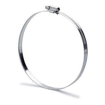 flexibele slang afzuigkap 152mm Slangklem. aluminiumkleurig