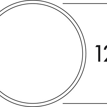 Buitenrooster dampkap voor 125mm Compair Flow