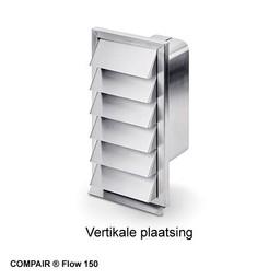Compair Flow Buitenrooster dampkap verticaal RVS