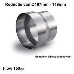 Naber Steekverbinding voor Dakdoorvoer/Tower 150mm