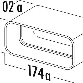 Afvoer Dampkap Platte Buis ø125mm Buisverbinding Wit