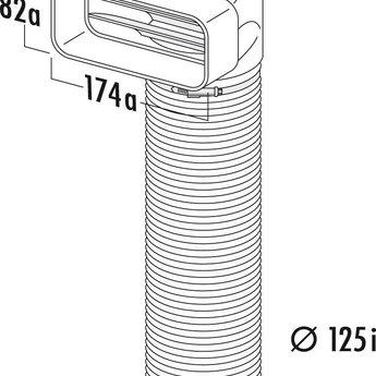 Compair Flow Afvoer dampkap Ø125mm Bocht 90°