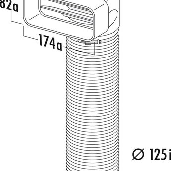 Compair Flow Afvoer afzuigkap Ø125mm Bocht 90°