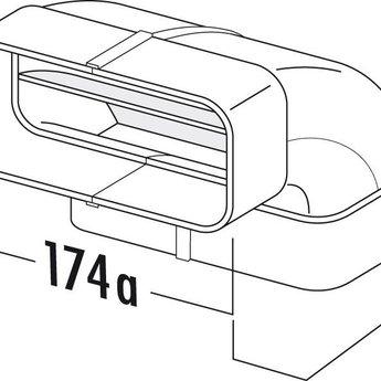 Naber Hoog rendement bocht Ø125mm verticaal 90°