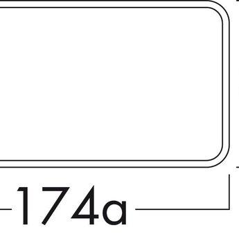 Naber Muurdoorvoer Ø125mm met RVS buitenrooster