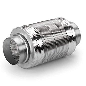 Compair Flow Geluiddemper Ø125mm ventilatiekanalen dampkap aluminium