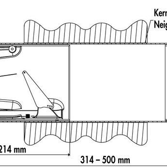 Compair Flow Muurdoorvoer afzuigkap Flow Star GTS Ø125mm RVS buitenrooster