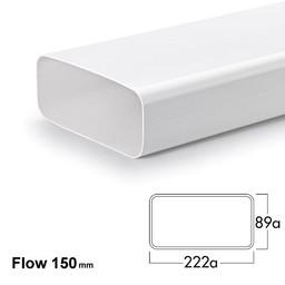Compair Flow Afvoer afzuigkap Hoog rendement luchtafvoer buis Ø 150mm Vlakke buis 222x89