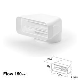 Compair Flow Omkeerstuk 90° Ø 150mm Vlak naar Rond