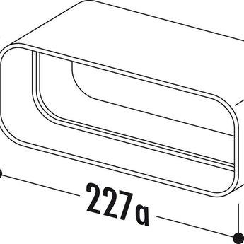 Compair Flow Buisverbinding Ø150mm platte dampkapbuis wit