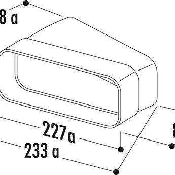 Compair Flow Buisbocht horizontaal 15° Luchtafvoer Ø 150mm platte buis