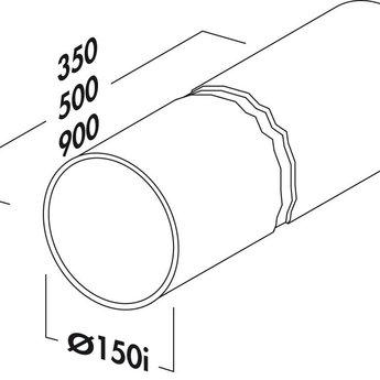Compair Flow Afvoerbuis afzuigkap Ø 150mm Lengte 500 mm wit