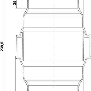 Afscheider voor condenswater , wit Ø 125/150 mm Luchtafvoer