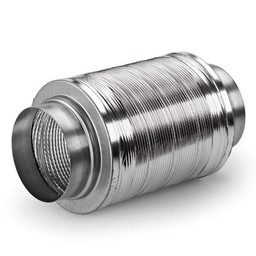Geluiddemper Ø 150 mm Luchtafvoer, aluminium