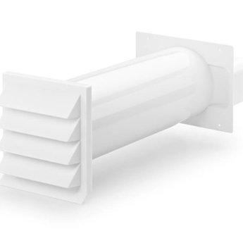 Muurdoorvoer Ø 150mm Vlakke Antraciet Met terugslagklep