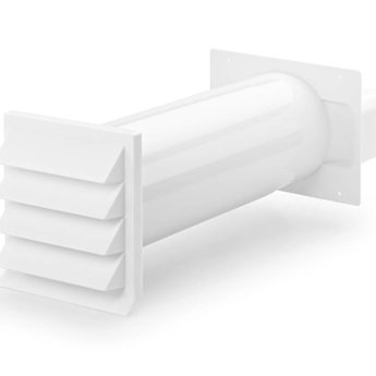 Muurdoorvoer Ø 150mm Vlakke buis - Baksteenrood - Met terugslagklep