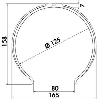 Ronde buishouder Compair Flow Ø 125 mm wit