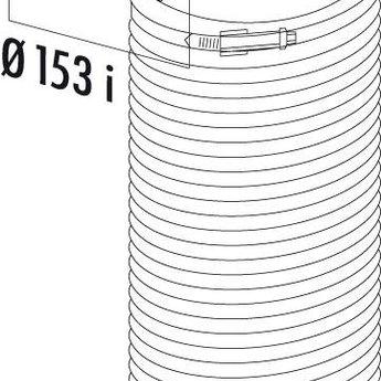 Omkeerstuk 90° Ø150 PVC Luchtafvoer R-URX Flow