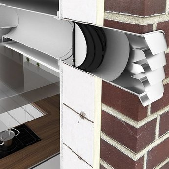 Muurdoorvoer E Jal Col® flow Ø125mm incl.Thermobox