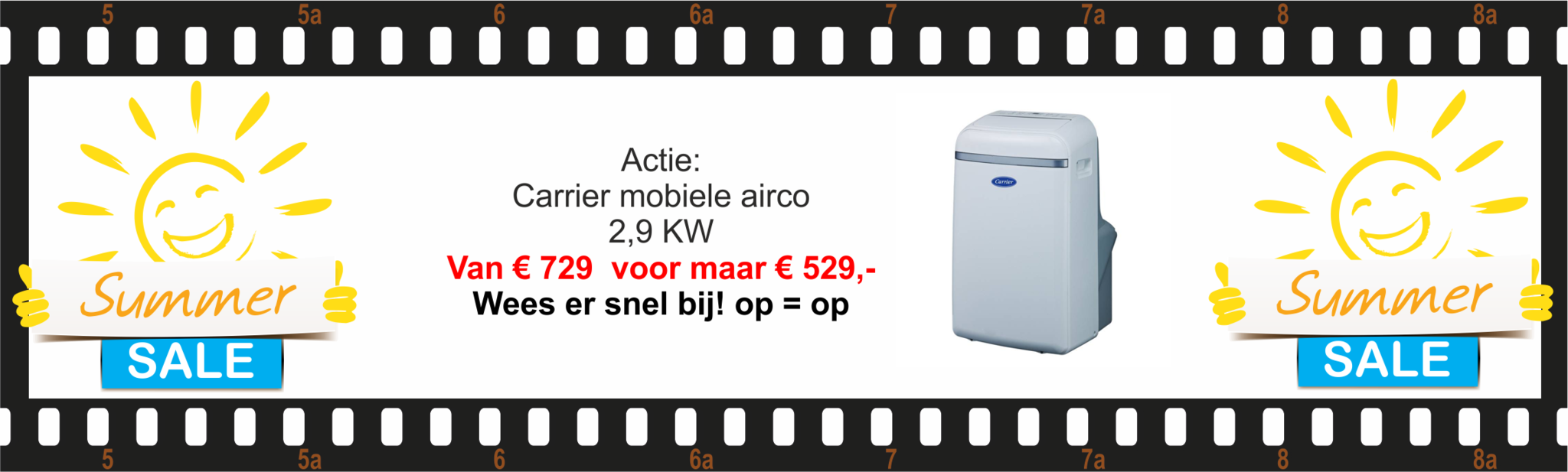 Carrier mobiele airco actie