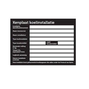Kenplaat installatie stickervel