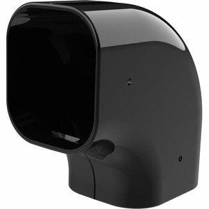 Tecnosystemi Excellens zwart CP72 platte bocht