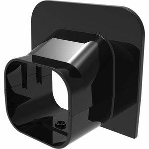 Tecnosystemi Excellens zwart TA72 plafond/wand eindstuk