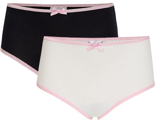 Underwunder Girls classic briefs blue/white (set of 2)