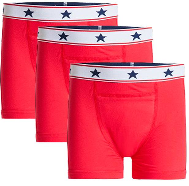 Underwunder Boys boxer red (set of 3)