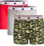 Underwunder Boys boxer red/grey/ camouflage (set of 3)