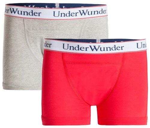 Underwunder Boys boxer red/grey with logo elastic (price per piece)