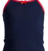 Underwunder Meisjes hemdje blauw met rode bies maat 86/92