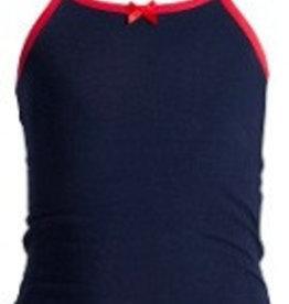 Underwunder Meisjes hemdje blauw met rode bies