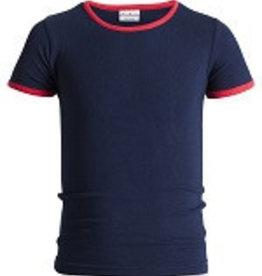Underwunder Jongens shirt blauw met rode bies