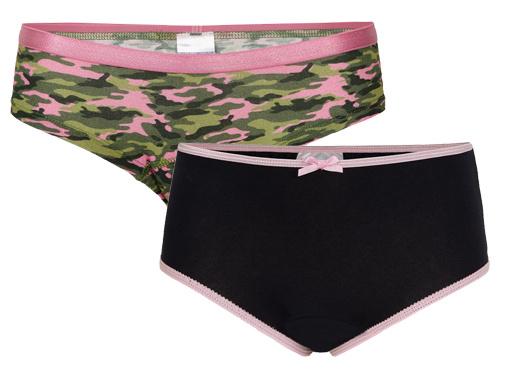 Underwunder Meisjes Slip, camouflage/blauw (prijs per set)