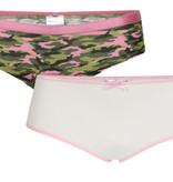 Underwunder Meisjes Slip, camouflage/wit (prijs per set)