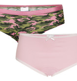Underwunder Girls briefs pink and hearts print (set of 2)