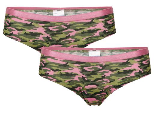 Underwunder Meisjes hipster, camouflage (prijs per set)