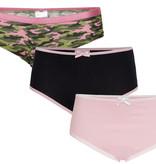 Underwunder Meisjes set, camouflage/blauw/roze