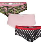 Underwunder Meisjes set, camouflage/roze/hartjes
