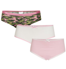 Underwunder Meisjes set, camou/wit/roze