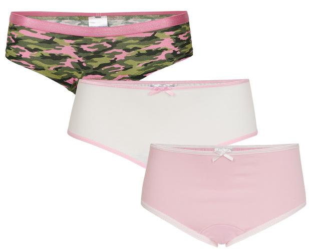 Underwunder Meisjes set, camouflage/wit/roze