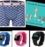 Voordeel zindelijkheidpakket jongens boxer monkey, R16 horloge en Juf Sas