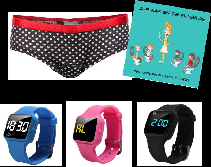 Voordeel zindelijkheidpakket meisjes hipster hartjes + R16 horloge + Juf Sas